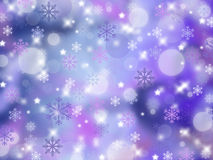 Christmas abstract background with snowflakes. Winter Stock Photography