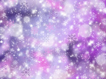 Christmas abstract background with snowflakes. Winter Stock Images