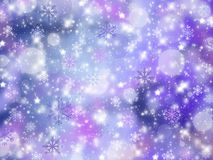 Christmas abstract background with snowflakes. Winter Royalty Free Stock Image