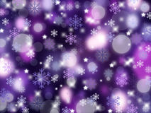 Christmas abstract background with snowflakes. Winter Stock Photos
