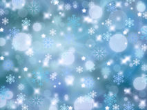 Christmas abstract background with snowflakes. Winter Stock Photo