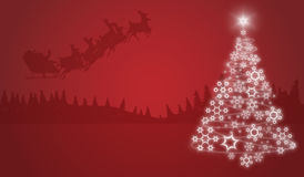 Christmas Abstract. Christmas background with Christmas tree Royalty Free Stock Photo
