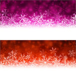Christmas abstract banners. Royalty Free Stock Photography