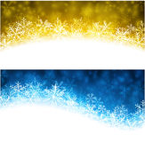Christmas abstract banners. Stock Photos