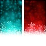 Christmas abstract banners. Stock Image