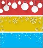 Christmas abstract banners. Stock Photography