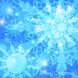 Christmas abstract blue background Stock Image