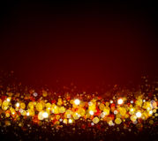 Christmas abstract bokeh background. Defocused bokeh lights. Golden Christmas Bokeh background vector illustration