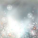 Christmas Abstract Bokeh Vector Background Stock Image