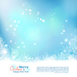 Christmas Abstract Bokeh Vector Background Royalty Free Stock Image