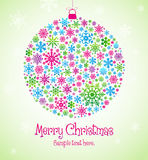 Christmas abstract decoration Royalty Free Stock Image