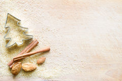 Christmas abstract food background with brown sugar and dainty Royalty Free Stock Photography