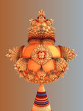 Christmas. Abstract fractal orange christmas design Royalty Free Stock Images