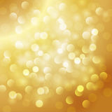 Christmas abstract gold background Royalty Free Stock Images