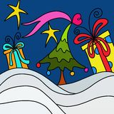 Christmas abstract landscape Stock Image