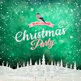 Christmas abstract landscape. EPS 10 Royalty Free Stock Images