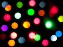 Christmas abstract lights Royalty Free Stock Image