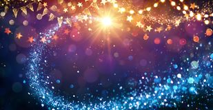 Christmas Abstract lights stock illustration