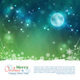Christmas abstract moon stars vector background Stock Photo