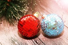 Christmas abstract, and New Year Decoration, sunlight Royalty Free Stock Photos