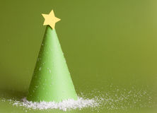 Christmas abstract paper tree stock photography