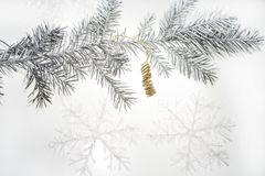 Christmas abstract photo. Some holiday decorations Stock Image