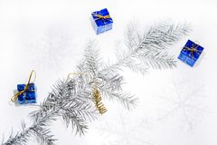 Christmas abstract photo. Some holiday decorations Stock Photo
