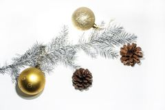 Christmas abstract photo. Some holiday decorations Royalty Free Stock Photo