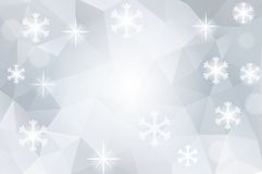 Christmas abstract polygonal cosmic background Royalty Free Stock Image