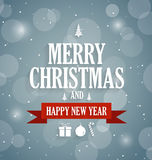 Christmas abstract poster. Happy New Year message Stock Photos