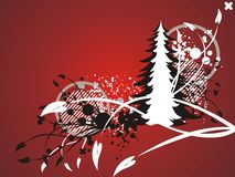 Christmas abstract red background Royalty Free Stock Image