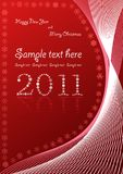 Christmas abstract red background Royalty Free Stock Images