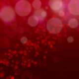 Christmas abstract red background with bokeh light.  vector illustration