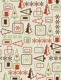 Christmas abstract seamless pattern. On neutral background Royalty Free Stock Photo