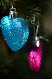 Christmas abstract shapes. Close up view of Christmas decorations with abstract soft focus Stock Image