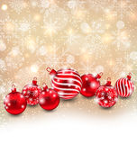 Christmas Abstract Shimmering Background. Illustration Christmas Abstract Shimmering Background with Red Balls, Shiny Wallpaper - Vector Stock Photos