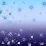 Christmas abstract. Snowflakes Stock Photos