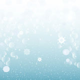 Christmas abstract snowy background. New year Stock Image