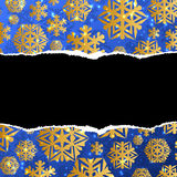 Blue and gold christmas abstract background Stock Photo