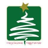 Christmas Abstract Tree Royalty Free Stock Photos