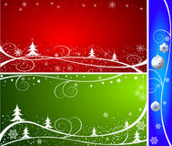 Christmas abstract vector illustration Stock Images