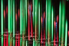 Christmas Abstract: Vertical Streaks of Red and Green Light Forming a Holiday Background Stock Photo