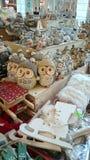 Christmas accessories - color, happy, seasonal gifts. Image of some Christmas gifts - seasonal accessories, specific winter animals, owls, reindeer, rabbits stock image