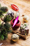 Christmas accessories in vintage style Stock Photography
