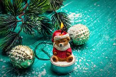 Christmas accessories in vintage style Stock Images