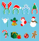 Christmas accessory  set Stock Photography