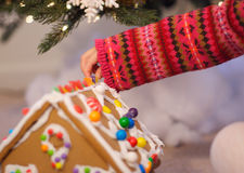 Christmas activities Stock Images