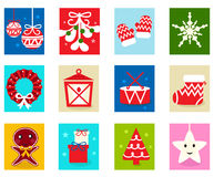 Christmas Advent Calendar elements 1 Royalty Free Stock Image