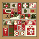 Christmas Advent Calendar Royalty Free Stock Images