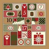 Christmas Advent Calendar. Advent calendar. Vector illustration of flat style Royalty Free Stock Images